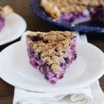 Blueberry Custard Pie with Buttery Pecan Streusel / I love blueberry anything!