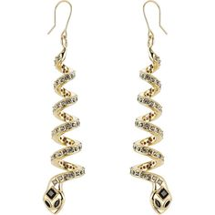 Alberta Ferretti Embellished Earrings (€167) ❤ liked on Polyvore featuring jewelry, earrings, gold, yellow gold earrings, gold twist earrings, twist jewelry, gold jewellery and gold earrings