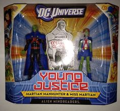 DC Universe Young Justice Collection Martian Manhunter Miss Martian Free SHIP | #eBay #dcuniverse #toys #missmartian #martianmanhunter #youngjusticecollection #forsale