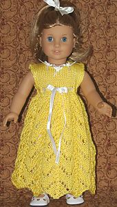 Ravelry: American Girl Doll Empire Waist Lace Dress pattern by Elaine Phillips