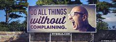 Philippians 2:14 NKJV - No Complaining. - Facebook Cover Photo