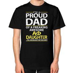 IM A PROUD DAD Unisex T-Shirt (on man)