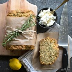 Lemon Rosemary Zucchini Bread Recipe