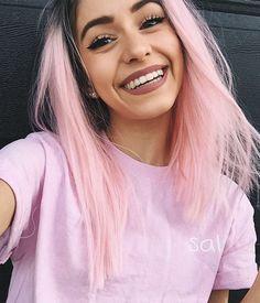 Lace Frontal Wigs Pink Hair Cardi B Pink Wig For Girl – wigbaba Ombré Hair, Dye My Hair, Girl Hair, Emo Hair, Hair Wigs, Short Hair Styles, Natural Hair Styles, Pastel Pink Hair, Lilac Hair