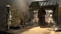 "STAR WARS Samurai Art - ""Lord Vader and His Troops"" — GeekTyrant"