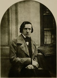Frédéric Chopin (1810-1849) was a Polish composer and virtuoso pianist of French-Polish parentage. He is considered one of the great masters of Romantic music. From 1837 to 1847 he carried on a relationship with the French writer Amantine Dupin (a.k.a. George Sand). For most of his life, Chopin suffered from poor health; he died in Paris at age 39. Photo by Blisson, 1849.