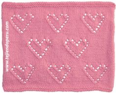 Corazón con bordes calados tejido en dos agujas o palitos Loom Knitting, Baby Knitting, Handicraft, Crochet Projects, Knit Crochet, Projects To Try, Weaving, Diy, Kids Rugs
