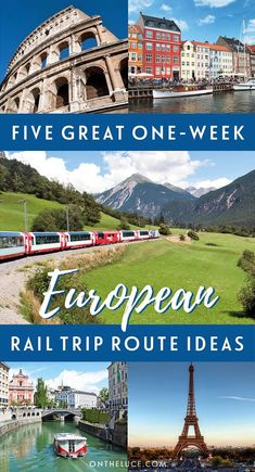 You don't need months to spare to see Europe by train – five of the best one-week European rail adventures, with routes in Italy, Scandinavia, Spain & Portugal, Eastern Europe and more. #train #rail #Europe #Interrail