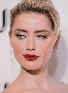 Amber Heard Makeup, Amber Heard Hair, Amber Heard Style, Amber Heard Photos, Amber Heard Bikini, Too Faced, Zendaya, Salma Hayek, Red Lipsticks