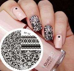 Chic Lace Pattern Nail Art Stamp Template Image Plate