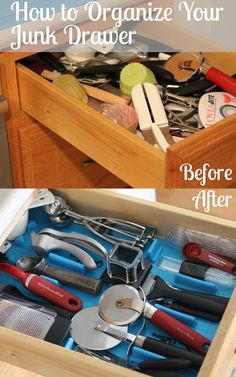 How to Organize your Junk Drawer and Miscellaneous Kitchen Utensils