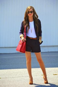 For All Things Lovely - Navy Duo (blazer and shorts)