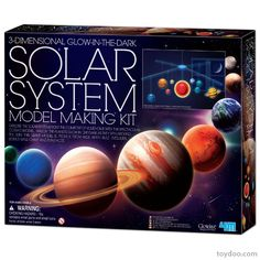 3D Solar System Mobile Craft Kit is 2-in-1 learning activity toys for kids: a creative planets mobile making craft and a space science toy.