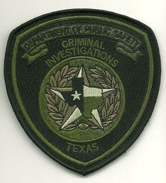 Texas State Police Subdued DPS  Criminal Investigations patch SWAT SRT