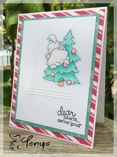 Paper of Many Colors: Santa...Define Good..... Newton's Curious Christmas stamp set by Newton's Nook Designs #newtonsnook