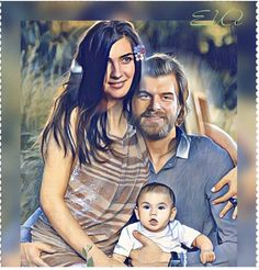 Found this beautifully #illustrated #photooftheday on #twitter  How #sweet do they look had they showed ud a more develored #story line of #CesurveGuzel ? #kivanctatlitug #tubabuyukstun #bestonscreencouple #bestshow #bestactor #bestactress