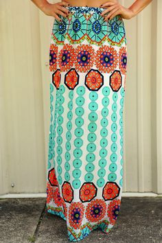 Couldn't Ask For More Maxi Skirt: Multi #shophopes