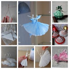 Here is a nice idea for making paper ballerina with wire and paper napkin .These dainty little ballerinas would add a feminine and girly touch to any room. Check directions-->http://wonderfuldiy.com/wonderful-diy-creative-paper-ballerinas-with-napkin-and-wire/ More #DIY projects: www.wonderfuldiy.com