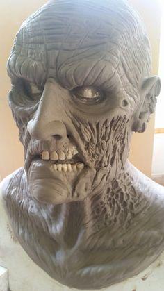 Zombie clay sculpt . Prosthetic Makeup, Sfx Makeup, Arte Horror, Horror Art, Oil Based Clay, Monster Makeup, Zombie Mask, Movie Makeup, Horror Masks