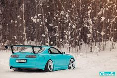 Russian Toyota Supra Is Happy With the Snow - Click Play in Slide Show to Reveal Hidden Pinterest Pictures