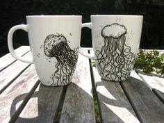 Kaffeebecher Quallen von ♡katis♡ auf DaWanda.com