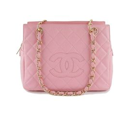 Pre-Owned Chanel Pink Caviar Quilted Timeless Shopper Tote Bag ($1,699) ❤ liked on Polyvore featuring bags, handbags, tote bags, pink, red tote, quilted tote bag, pink tote, shopping tote bags and chanel handbags