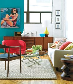 Home | The Bungalow Inspiration Files – Mid Century Mod Living Room