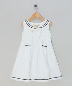 White Sailor Dress - Infant, Toddler & Girls by Little Linens & Mon Marcel