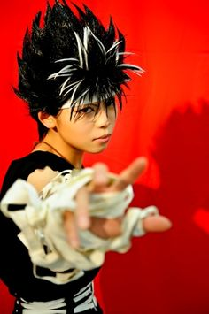Most realistic Hiei cosplay I've ever seen. Epic Cosplay, Amazing Cosplay, Cosplay Costumes, Anime Cosplay, Yu Yu Hakusho Hiei, Air Gear, Ghost In The Shell, Vampire Knight, Super Hero Costumes