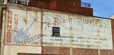 Bernie's Music/Beauty Supply ghost signs, Dayton, OH