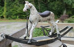 Folk Art Primitive Antique Rocking Horse Child's Toy Americana Hobby Horse