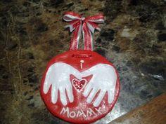 Salt dough handprints for mommy