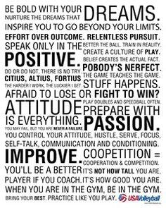 Manifesto #volleyball #passion #dreams