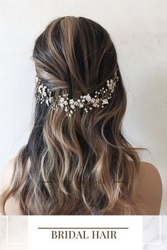Add the perfect finishing touch to your wedding hairstyle with this crystal and pearl bridal hair piece. As the bridal headpiece is flexible it can be shaped to suit any hairstyle. Available in silver or gold this hair vine is the perfect bridal hair accessory. Please visit our website for more stunning wedding hair accessories. Bridal hair comes work with most hairstyles unlike tiaras which only work on top of your hair. Using hair spray helps the wedding hair comb to stay in place securely. Boho Wedding Hair, Wedding Hair Down, Bridal Hair Vine, Hair Comb Wedding, Bride Hair Down, Pearl Bridal, Hair Combs, Wedding Hair Accessories, Bridal Headpieces