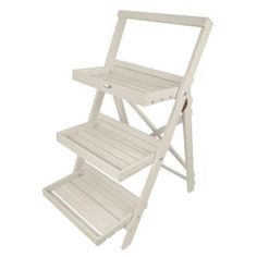 Step Ladder Plant Stand, White - farmhouse - outdoor planters - by Parpadi Outdoor Planters, Outdoor Chairs, Outdoor Decor, Outdoor Living, Garden Furniture, Furniture Sets, Outdoor Furniture, Step Shelves, Fallen Fruits