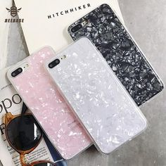 BEEBASE Luxury Phone case For iphone 7 case For iphone 6 X 8 plus Cover case Glossy Soft silicon phone coque For iphone From Touchy Style Outfit Accessories ( white / For iphone X ) Iphone 6 Phone Cases, Girl Phone Cases, Phone Cases Marble, Diy Phone Case, Cute Phone Cases, Iphone 8 Plus, Friends Phone Case, Diy Pop Socket, Pop Sockets Iphone