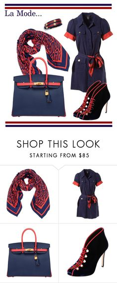 """""""La Mode...: statement bag 👜 #2"""" by lamodelle ❤ liked on Polyvore featuring Karen Walker, Marc by Marc Jacobs, Hermès, Gianvito Rossi, Tory Burch, navy and statementbags"""