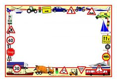 Transport-Themed A4 Page Borders (SB3889) - SparkleBox
