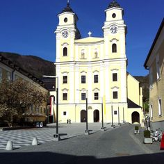 """Mondsee church in Austria,  """"wedding chapel in the sound of music"""""""