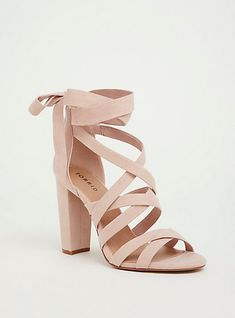 Shop wide shoes for women at Torrid! Find cute and comfortable wide with shoes in different styles including wide width sandals, heels, boots, and more! Pretty Shoes, Beautiful Shoes, Cute Shoes, Me Too Shoes, Pretty Sandals, Fancy Shoes, Blush Heels, Lace Up Heels, Pumps Heels