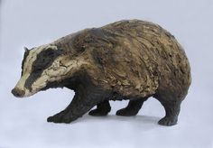 Badger by simon griffiths Pottery Animals, Ceramic Animals, Clay Animals, Animals And Pets, Animal Sculptures, Lion Sculpture, Air Dry Clay, Fine Art Gallery, Clay Crafts