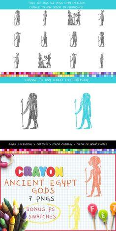 Crayon Ancient Egypt Gods