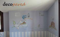 mural piratas para niños
