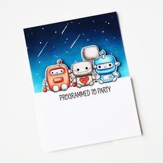 Robot Plushies Cute Diys, Card Making Inspiration, Clear Stamps, Diy Cards, Scrapbooking Ideas, Plushies, Cardmaking, Stamping, Robot