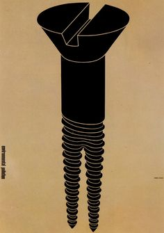 poster against environmental pollution. Shigeo Fukuda, 1973.