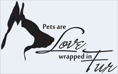 Pets are lovevinyl decalanimal rescuecustompaw by VandyVinyl