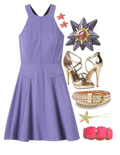 starmie - by goldeen by pokemon-tippers on Polyvore featuring polyvore fashion style Rebecca Taylor Michael Antonio Blu Bijoux Allurez Fornash FOSSIL clothing