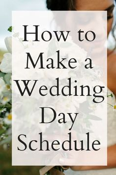How to make a wedding schedule http://applebrides.com/2014/02/20/wedding-timeline-tips-by-emily-wenzel-photography/