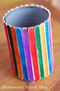 ice-cream sticks pencil holder
