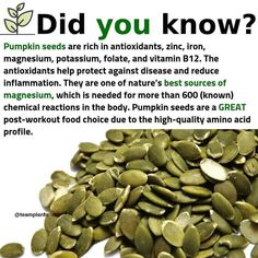 Who else loves pumpkin seeds?( - Eat more nuts and . Who else loves pumpkin seeds?( - Eat more nuts and seeds as a way to get more healthy fats, vitamins, and minerals into… Who Tomato Nutrition, Health And Nutrition, Health And Wellness, Smart Nutrition, Nutrition Classes, Cheese Nutrition, Nutrition Activities, Nutrition Guide, Kids Nutrition